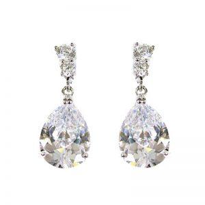 Clear teardrop earrings – XPE006CH