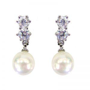 White Pearl Earrings – BE82045WCH