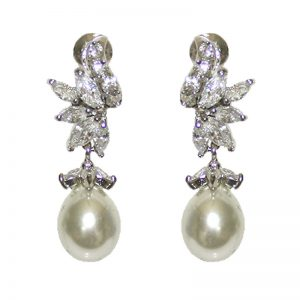 Pearl and CZ Earrings – TIF316WLD