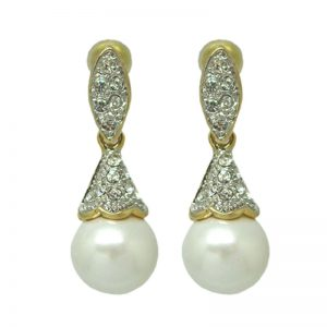 Pearl Earrings – Gold – ME005GCH