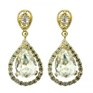 Gold Tear Drop Earring – EL8266GCH