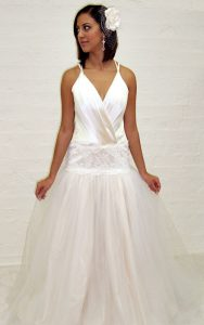 Beaded Lace Tulle Couture Wedding Dress
