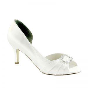 White Bridal Shoe – 'Ivanna'