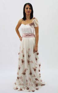 Floral Tuelle Silk Couture Dress