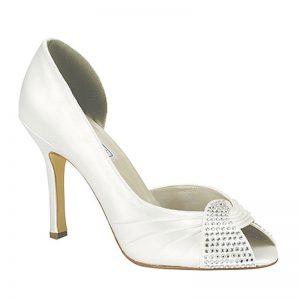 Silk Bridal Shoe – 'Saskia'