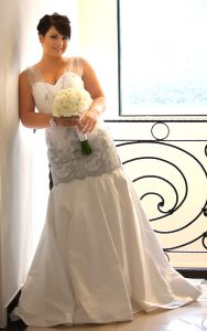 Silver Chantilly Couture Gown
