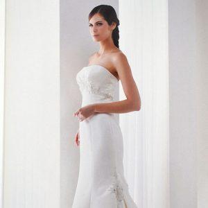 Ivory Strapless Embellished Wedding Dress – K95025
