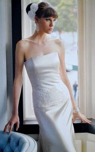 Strapless Silk Satin Couture Gown