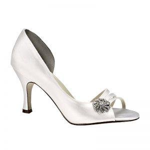 Satin Bridal Shoe – 'Sharmain'