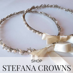shop stefana bridal crowns