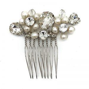 'Ali' Silver Pearl Comb