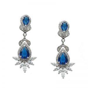 Bridal Earrings (Blue or Clear) – CHBAE0206