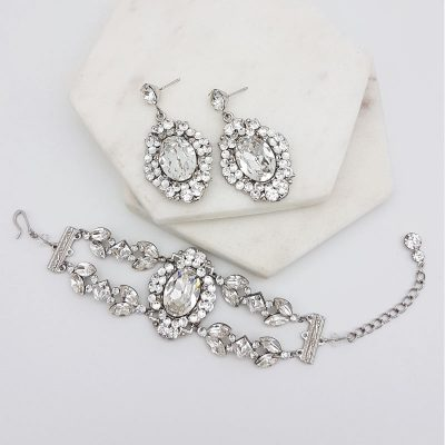 hollywood glamour bridal jewellery set