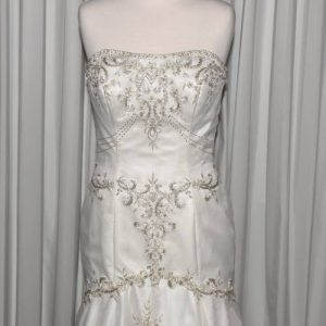 ivory beaded wedding dress