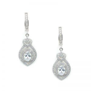 Sterling Silver Bridal Drop Earrings – CHSSE0004