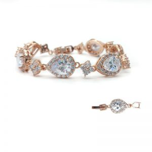Rose Gold or Silver Cubic Zirconia Bracelet – CHCB031