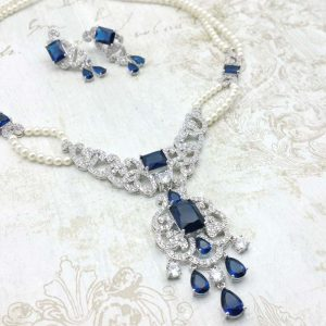 Necklace Set (Blue or Clear) – Alice