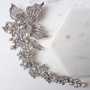 large pearl bridal hair comb