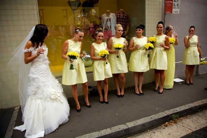 Glam Couture bridal party