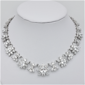 short bold bridal necklace