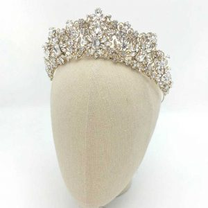 Taylor Bridal Crown (Gold or Silver)