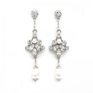 Swarovski Crystal and Pearl Earrings -TRISHAer