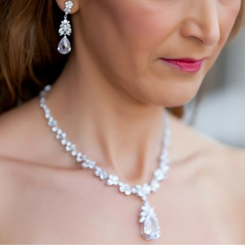 Silver Pendant Drop Necklace