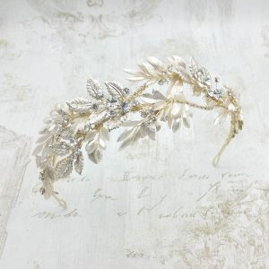 'Aphrodite' Gold Leaf Headband