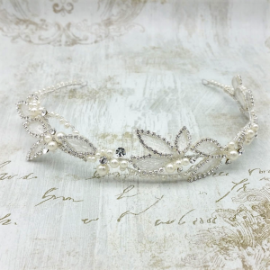 'Willow' Pearl & Crystal Headband