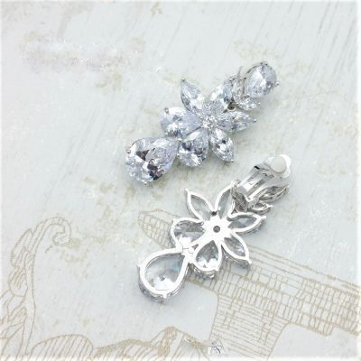 silver clip earrings