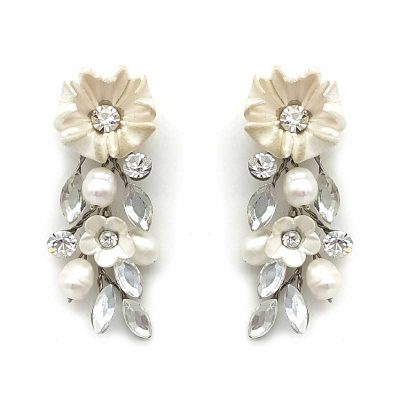 blossom and pearl earrings