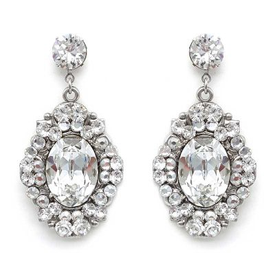 swarovski crystal statement drop earrings